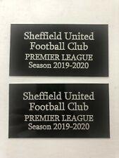 Sheffield United FC - Pair of Engraved Plaques - For Memorabilia Dealer / Framer