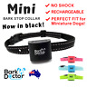 MINI AUTO STOP BARKING Collar Chihuahua Toy XS-S USB RECHARGEABLE SAFE HUMANE