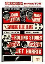 the Rolling Stones  **POSTER**  early 1964 UK Concert Mick Jagger Keith Richards