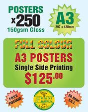250 A3 Poster printing on 150gsm Gloss