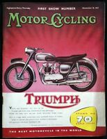 MOTOR CYCLING MAGAZINE NOV 10 1955 - N.Z. RECORD BREAKERS - FIRST SHOW NUMBER