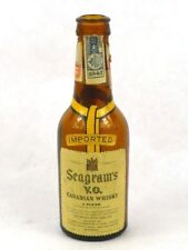 1942 Waterloo SEAGRAM'S V.O. CANADIAN WHISKY Chrysler Building mini bottle