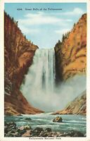 Postcard Great Falls Yellowstone National Park Wyoming