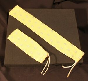 Computer wrist support covers. Set 4. Gold color fabric.