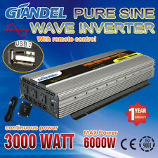 Large Shell Pure Sine Wave Power Inverter 3000W/6000W 12V-240V Remote Control