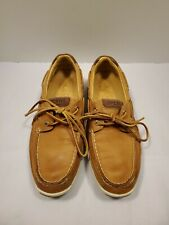 SPERRY TOP SIDER Gold Cup 2-Eye Boat Shoes ASV Tan Leather STS 15277 Men's Sz 8