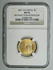 2001 W Capitol Gold $5 NGC MS70 US Vault Collection L/M