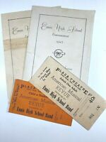 Ennis TX High School 1945 Commencement Programs Band Concert Tickets