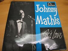 """TFE 17319 UK 7"""" 45RPM 1960 JOHNNY MATHIS """"IT'S LOVE"""" EP EX"""