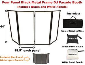 CedarsLink DJ Event Facade White/Black Scrim Metal Frame Booth +Travel Bag Case