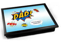 Dad comic fathers day personalised Laptray
