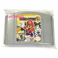 Mario Party 3 Video Game US Version For Nintendo N64 Authentic TESTED WORKING