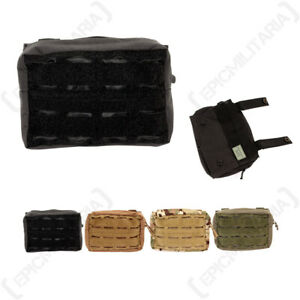 Laser Cut MOLLE Belt Pouch - Small Military Bag with 2 way zipper and drainage