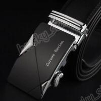 NEW Stylish Men Luxury Leather Automatic Buckle Belts Waist Strap Belt Waistband