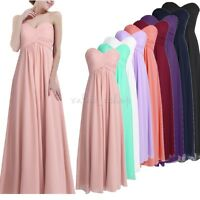 Women Long Evening Party Gown Prom Dresses Formal Cocktail Wedding Bridesmaid