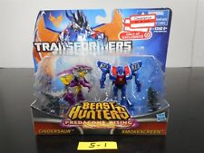 SEALED! TRANSFORMERS BEAST HUNTERS PREDACONS RISING CINDERSAUR & SMOKESCREEN 5-1