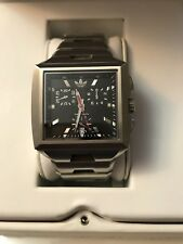 Adidas Men Black Square Face Watch Limited Edition Nwt