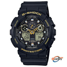 Casio G-Shock GA-100GBX-1A9 Special Color Gold-Accented Ana-Digital Watch