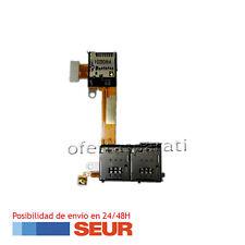 Flex Lector Tarjeta Dual Sim Memoria Micro SD para Sony Xperia M2 Dual D2302