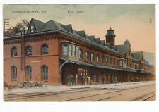 Susquehanna PA - ERIE RAILROAD STATION - Postcard