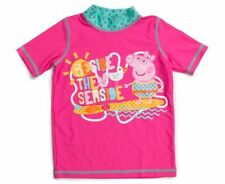 PEPPA PIG RASH VEST UPF 50+ SIZE 7  LICENSED BRAND NEW WITH TAGS SWIMWEAR