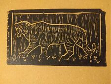 Billy Childish Where The Tiger Prowls, Striped & unseen 1st edition woodcuts 08