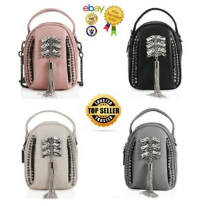 New Women's Gems And Diamante Embellished Tote Bag Cross Body Bag With Chain