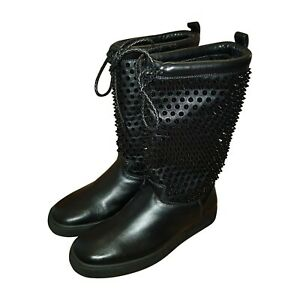 1690€ ** CHRISTIAN LOUBOUTIN Surlapony Spikes botte femme boots FR 36,5 US 6,5