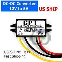 Waterproof DC-DC Converter 12V Step Down to 5V USB Power Supply Module 3A 15W