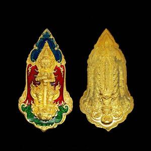 God Giant Wessuwan LP Pat Wat Huay Duan Talisman be.2562 Thai Buddha Amulet