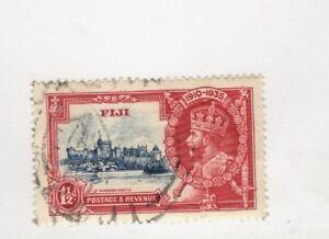 1935 Fiji  SCOTT #110 WINDSOR CASTLE  used stamp