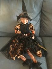 Skull & Bones Brand Halloween Witch Shelf Sitting Dangling Legs - New With Tags