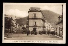 CEFALU' piazza garibaldi con le vie umberto I° e XX settembre
