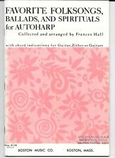 """""""Favorite Folksongs Ballads and Spirituals for Autoharp"""" lesson and songs"""