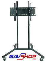 "Black Trolley with Universal Flat Screen TV Bracket for screen sizes 30"" to 60"""