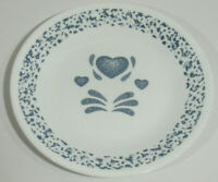 "Corelle® by Corning Blue Hearts Pattern 6 ¾"" Desert / Bread Plate VGUC Free Ship"