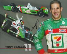 2004 Tony Kanaan signed 7-Eleven Big Gulp Honda Dallara Indy Car postcard