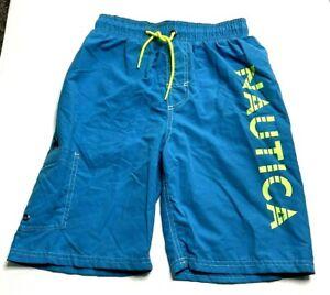 Nautica  Boys Swim Trunks Shorts Bathing Suit Ocean Size L 10/12 1386431 NWT