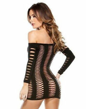 Polyester/Spandex Long Sleeve Stretch Dresses for Women