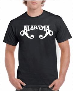 ALABAMA COUNTRY MUSIC BAND LOGO GRAPHIC T SHIRT 100% GILDAN COTTON 6 COLORS