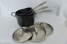 Circulon Style Hard-Anodised Aluminium Non-Stick Saucepan & Lid Set 3 Piece