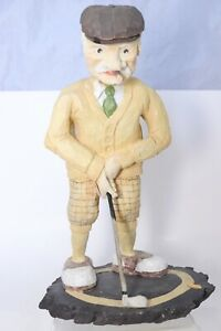 """1993 Enesco The Golden League The Three Footer Golf Figurine Statue Old Man 10"""""""