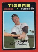 1971 Topps #180 Al Kaline LOW GRADE CREASE MARKED Detroit Tigers FREE SHIPPING