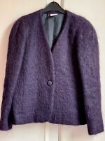Stunning *ALEXON* Purple 70% Mohair Wool Jacket