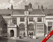 CHARTERHOUSE HOSPITAL SCHOOL UK ENGRAVING PAINTING ARCHITECTURE ART CANVAS PRINT
