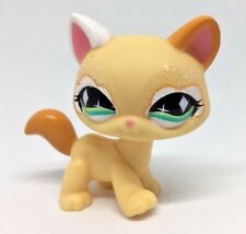 Littlest Pet Shop Cat Kitty Orange Yellow Glitter Diamond Green Eyes #626 LPS