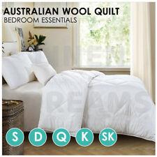 All Size 350 / 500GSM Australia Wool Quilt Doona Duvet Blanket Summer All Season