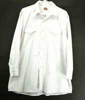 Miller Men's 18-34 Long Sleeve Western Wear Pearl Snap Shirt White & Red