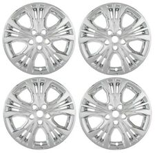 "NEW 2014-2015 Chevrolet IMPALA 18"" Alloy Wheel Chrome Hubcaps Covers Skin SET"