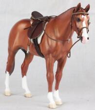 Ann Harris Signed 1/9 Scale Model Marshall Horse Resin Figure Chestnut w/ Tack
